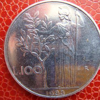 Италия 100 лир 1983 год
