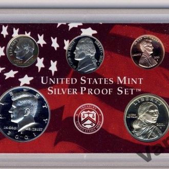 Набор Монет США (2001 год) Серебро (Пруф) (S)