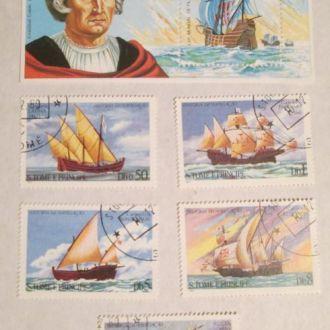 Куба 1992 Парусники. Флот