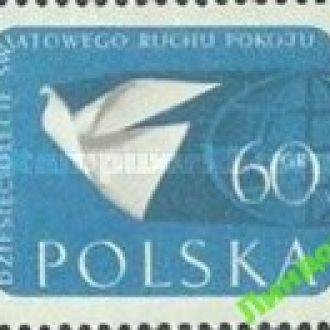 Польша 1959 мир карта птицы голубь ** о