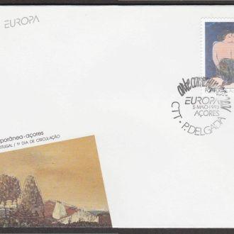 Португалия Азоры 1993 ЕВРОПА EUROPA ЖИВОПИСЬ КАРТИНА АБСТРАКЦИОНИЗМ ИСКУССТВО КПД Mi.434