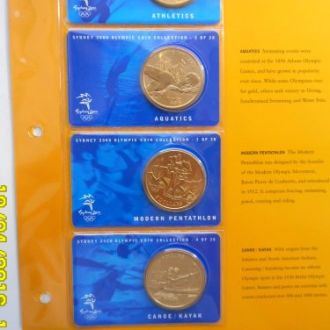 Австралия комплект 5 долларов 2000 Олимпиада