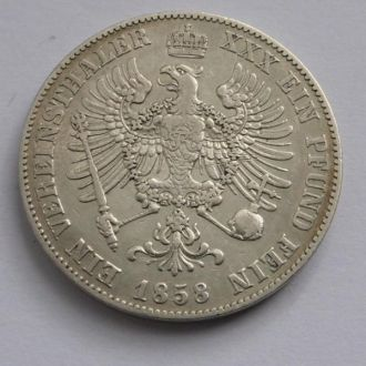 Германия Пруссия 1 талер 1858 г