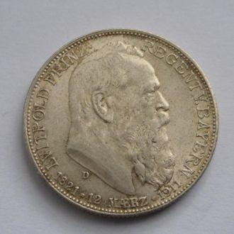 Германия 2 марки 1911 г Луитпольд UNC