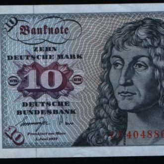 Германия  ФРГ 10 марок 1977 UNC