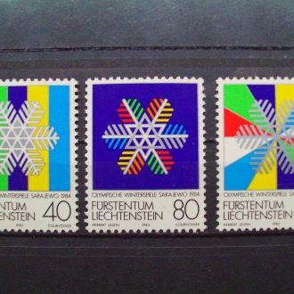 Лихтенштейн.1983г. Зимние олимпийские игры. Полная серия. MNH