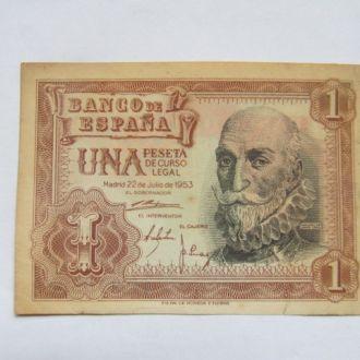 Испания   1   песета   1953   год