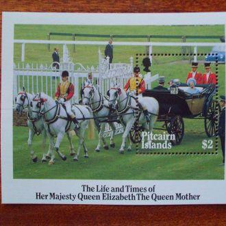 Остр.Питкерн.1985г. Королева Елизавета. Блок. MNH