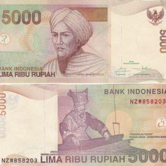 Indonesia Индонезия - 5000 Rupiah 2016 UNC JavirNV