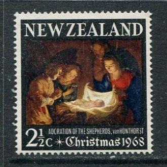 Новая Зеландия 1968 Одиночка ** Религия Живопись