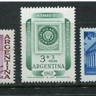 Аргентина 1961 Серия ** Марка на марке Архитектура