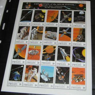 Микронезия 1999 Космос Солнечная система Клб **