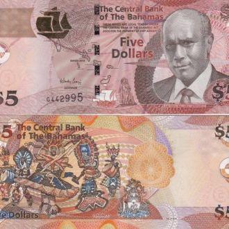 Bahamas Багамы Багамские 5 Dollars 2013 UNC Javir