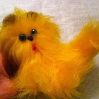 Рыжий кот -мягкая советская игрушка.