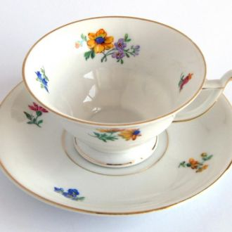Чашка и блюдце фарфор Kronach Bavaria 1930 Germany