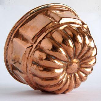 Антикварная форма для выпечки Blume медь Germany