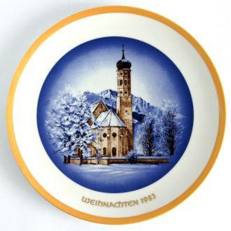 Тарелка панно Рождество 1983 Wagner Germany