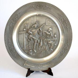 Тарелка панно H. Sorgh, 26 cм, олово, Germany