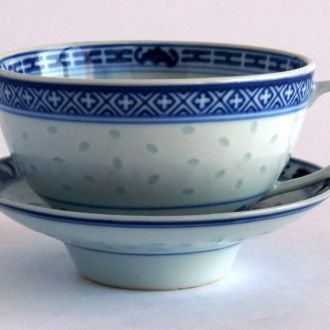 Коллекционные чашка блюдце #2 рисовый фарфор China