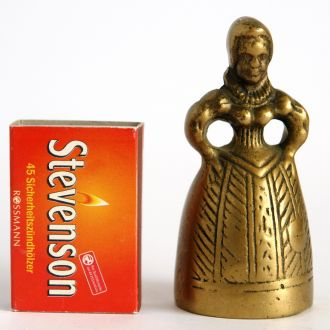 Антикварный колокольчик Frau, бронза, Germany