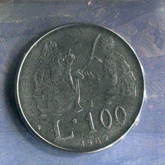 Сан-Марино 100 лир 1989 UNC из набора Запайка!