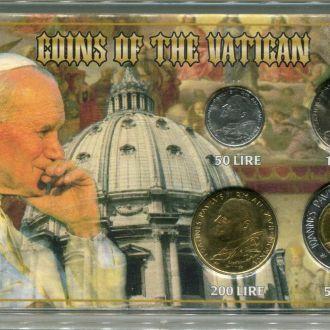 Ватикан 1995 набор UNC пластик Иоанн Павел II