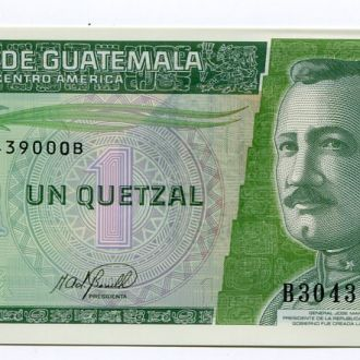 Гватемала 1 кетцаль UNC прес