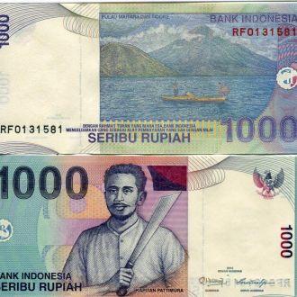 Индонезия 1000 рупий UNC пресс
