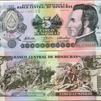 Гондурас 5 лемпир UNC пресс