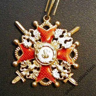 Знак ордена св. Станислава (с мечами) (без мечей)