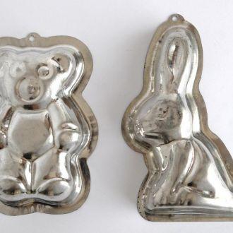 Кондитерские формы Зайка и Мишка, 2 шт., Германия