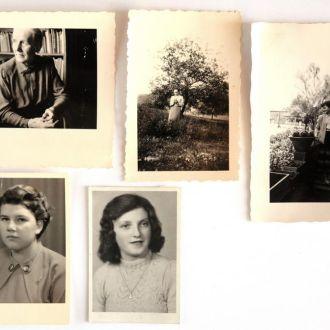 Старые фото 5 шт., середина ХХ в., Германия