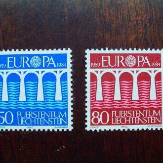 Лихтенштейн.1984г. Европа-СЕРТ. Полная серия. MNH