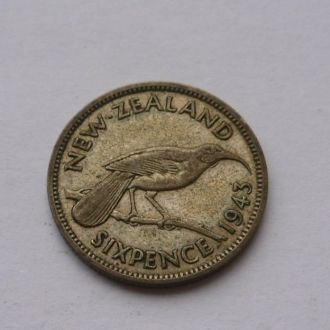 Новая Зеландия 6 пенсов 1943 г