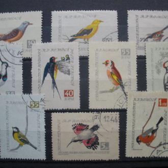 Румыния.1959г. Фауна. Птицы. Полная серия.