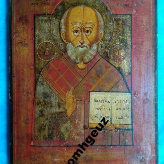 Святитель Николай Чудотворец. Старинная икона дере