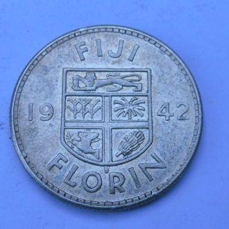 Фиджи 1 флорин 1942 г серебро