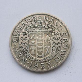 Новая Зеландия 1/2 кроны 1933 г серебро №2