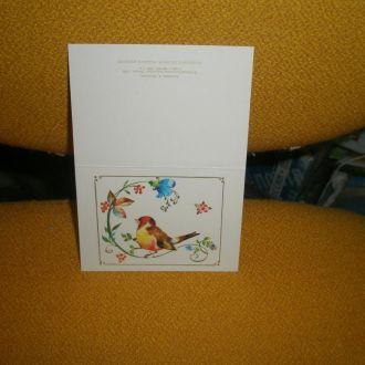 Л.Манилова мини-открытка т.1,3 млн 1985г