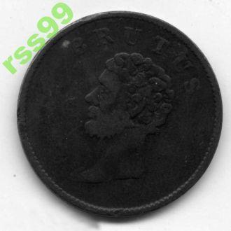 Англия,  ESSEX 1/2 пенни 1800 г. BRUTUS