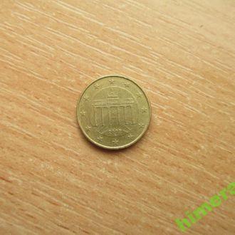 Германия 10 евро центов 2002 G