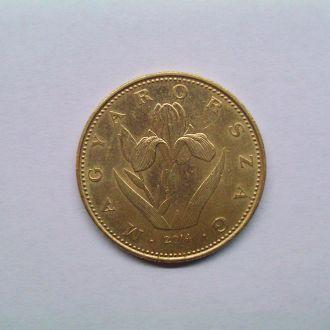 Монета Венгрии 2014г. 20 Фт. Цветы.