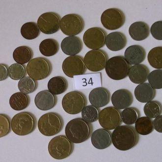 Колекция монет Бельгии 44 шт.