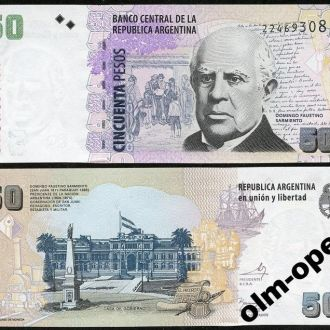 Argentina/ Аргентина  50 Pesos 2013 Series G - UNC