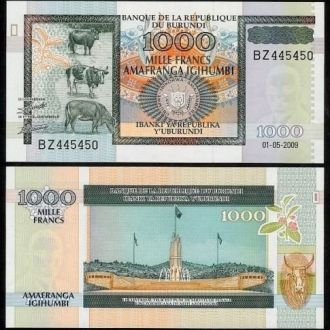 Burundi/ Бурунди - 1000 Francs 2009 - UNC OLM-OPeN
