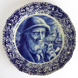 Тарелка панно Моряк Delft-BOCH Freres Belgium