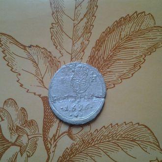 Австрия, Полтура 1696 год.  Серебро.