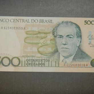 Бразилия 500 крузейро 1987 UNC