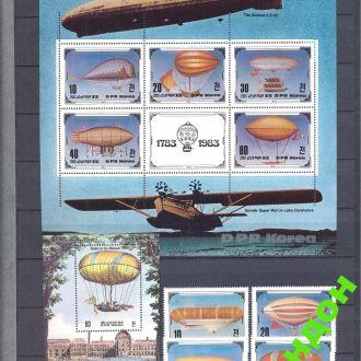КНДР Корея 1982 авиация дирижабли возд. шары ** о