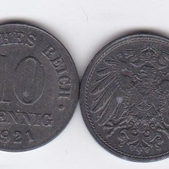 Germany Германия - 10 Pfennig 1921 UNC JavirNV